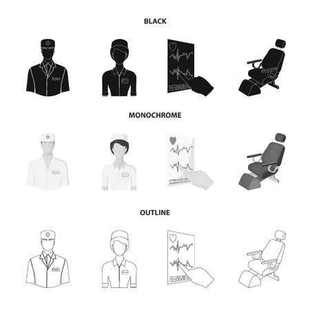 Medicine set collection icons Illustration