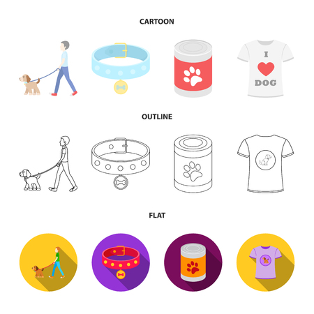 Dog set collection icons in cartoon,outline, flat style vector symbol stock illustration .