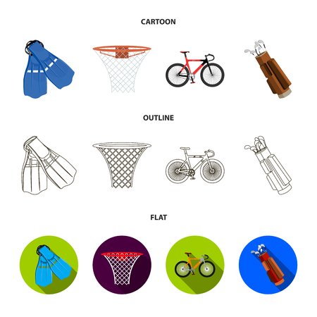 Sport set collection icons in cartoon, outline, flat style vector symbol stock illustration . Illustration