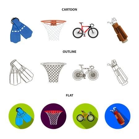 Sport set collection icons in cartoon, outline, flat style vector symbol stock illustration . Ilustração