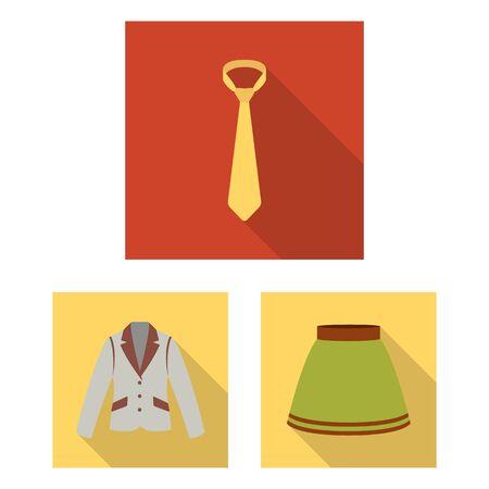 디자인에 대 한 설정된 컬렉션에 옷 플랫 아이콘의 다른 종류. 옷과 스타일 벡터 기호 재고 웹 일러스트 레이 션 스톡 콘텐츠 - 99443026