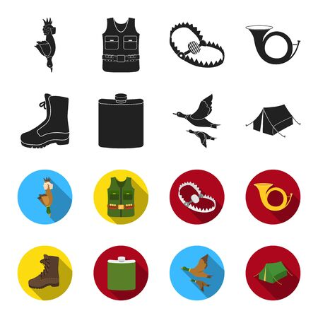 Hunting set collection icons