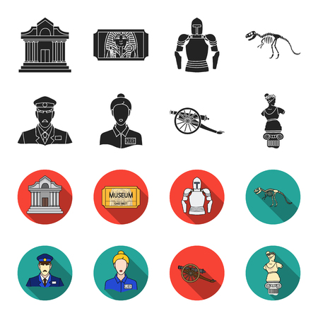 Gallery set collection icons Vettoriali