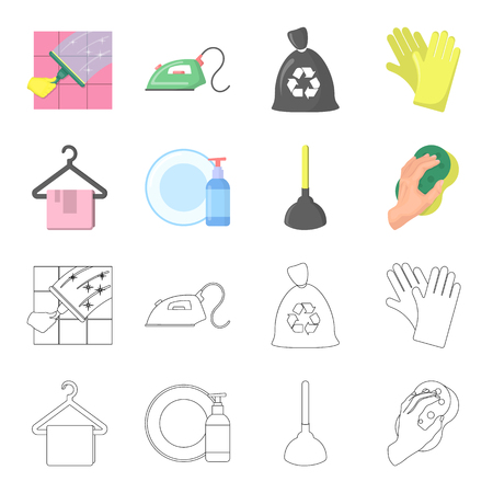 Drying of clean things. Dry cleaning single icon in black style vector symbol stock illustration web.