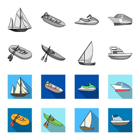 navires et l & # 39 ; eau transport icons set collection