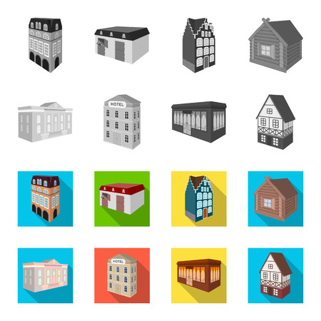 Architectural and building set collection icons