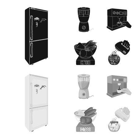 kitchen, refreshment, restaurant and other icon in black.
