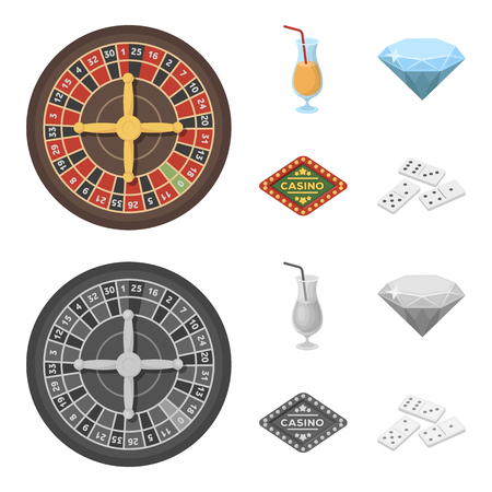 Casino and gambling set collection icons Vettoriali