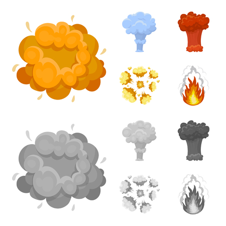 Explosions set collection icons Illustration