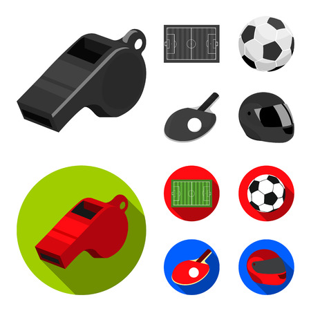 Sport set collection icons in monochrome, flat style vector symbol stock illustration.