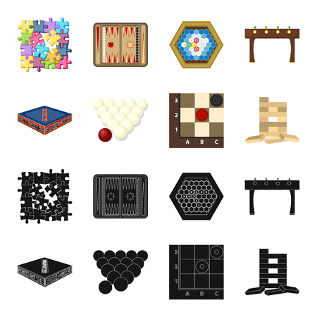 Board game black,cartoon icons in set collection for design. Game and entertainment vector symbol stock web illustration.
