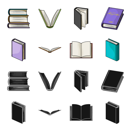 Various kinds of books. Books set collection icons in black,cartoon style vector symbol stock illustration web.