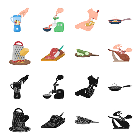 treat, appliance, tool and other web icon in black,cartoon style.cook, housewife, hands icons in set collection. Ilustrace