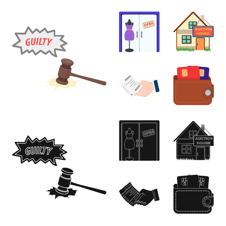 Justice, women clothing and other icon in cartoon Vectores