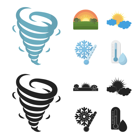 The weather set collection icons Ilustração