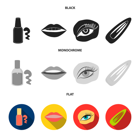 Makeup set collection icons