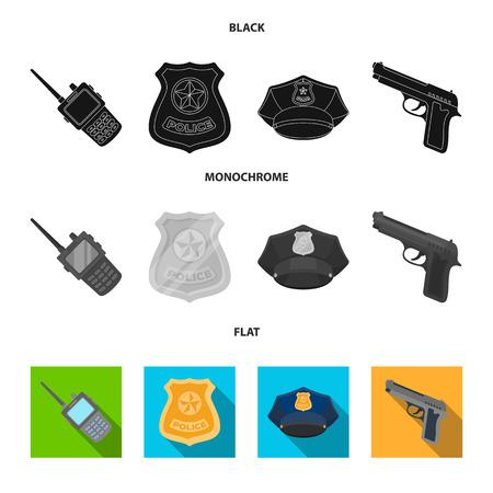 Police set collection icons Standard-Bild - 100291517
