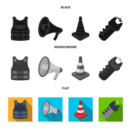 Police icons set collection Иллюстрация