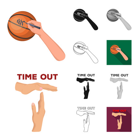 Basketball player and equipment vector symbol stock illustration.