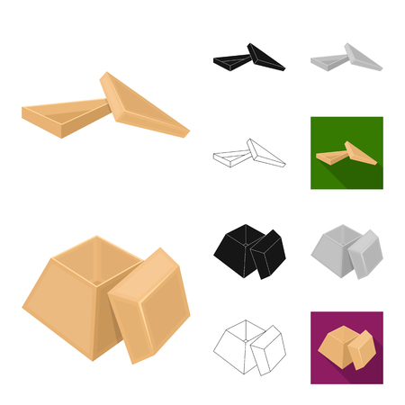 Packing box vector symbol stock illustration.