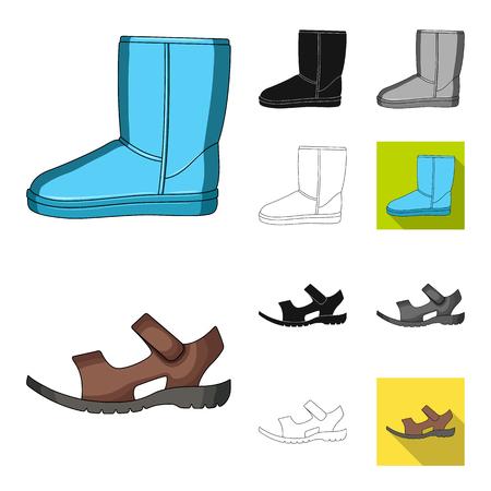 Men and women shoes vector symbol stock illustration.