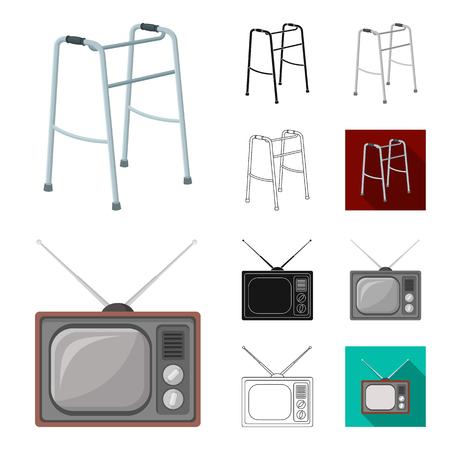 Pensioner, period of life vector symbol stock illustration.