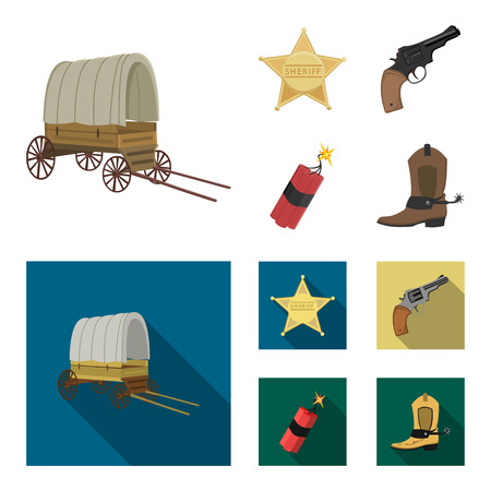 Wild West set collection icons