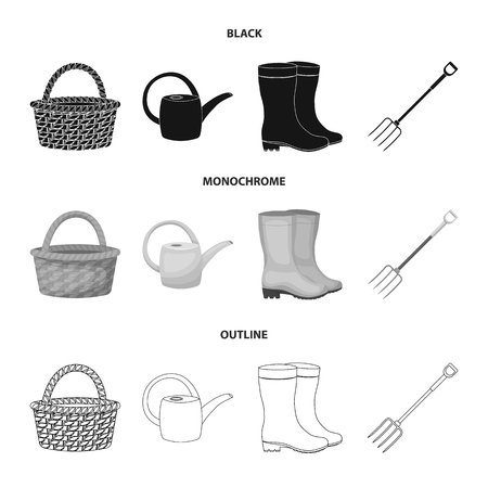 Farm and gardening set collection icons  イラスト・ベクター素材