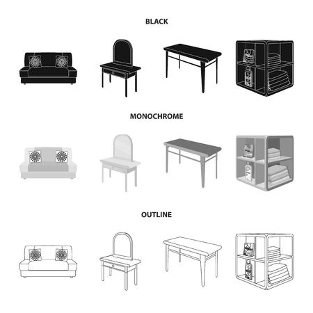 Furniture and interior set collection icons.