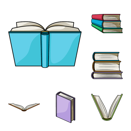 Book bound cartoon icons in set collection for design. Printed products vector symbol stock web illustration.