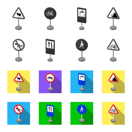 Different types of road signs Illusztráció