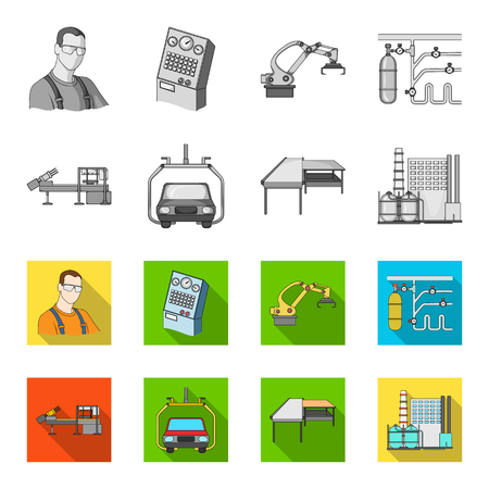 Automotive industry and other web icon in monochrome,flat style.New technologies icons in set collection.