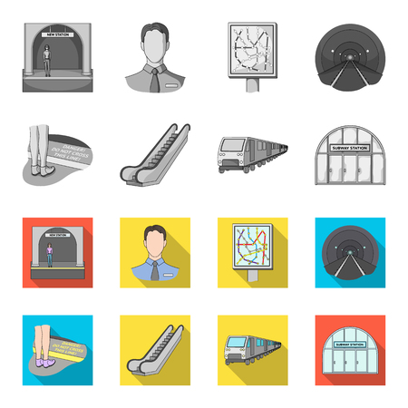 Electric, transport, equipment and other web icon in monochrome, flat style.Public, transportation, machineryicons in set collection. Vectores