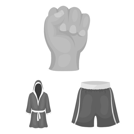 Boxe sports extrêmes monochrome icons set collection de vecteur pour le web . collection et des attributs de style de vie. symbole vecteur stock illustration Banque d'images - 101019009