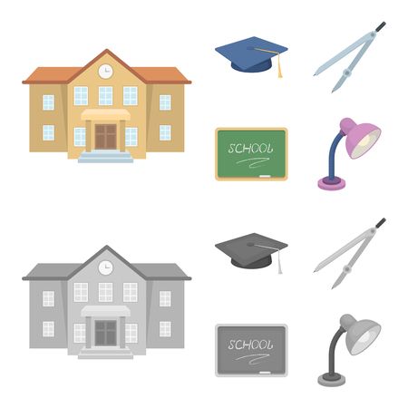 School and education set collection icons.