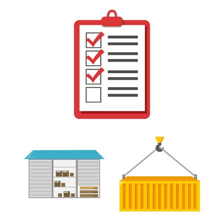 Logistics service cartoon icons in set collection for design. Logistics and equipment vector symbol stock  illustration. Illustration