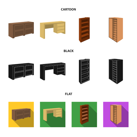 Bedroom furniture set collection icons