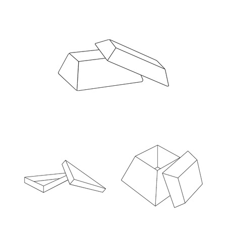 Different boxes outline icons in set collection for design.Packing box vector symbol stock web illustration.