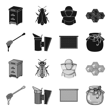 Apiary set collection icons Illustration