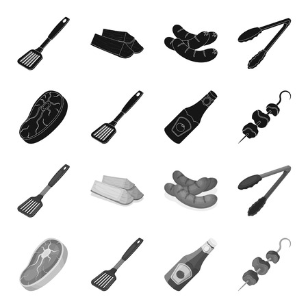 Barbeque set collection icons Standard-Bild - 101079886