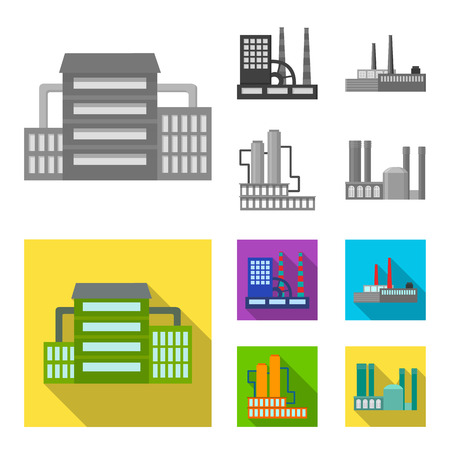 Industry, production.Factory set collection icons,flat style vector symbol stock illustration web.