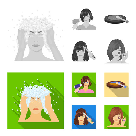 Salon, care, hygiene and other web icon in monochrome,flat style. Hands, hairdresser, beauty, icons in set collection. Illustration