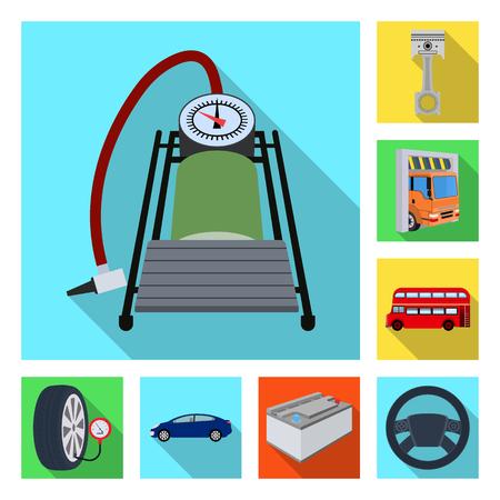 Car maintenance station icons symbol