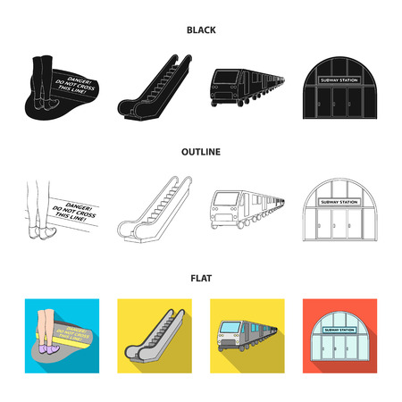 Electric, transport, equipment and other  icon in black,flat,outline style.Public, transportation,machineryicons in set collection Vectores
