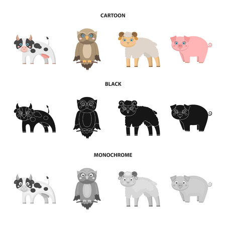 Forest, ecology, toys and other web icon in cartoon,black,monochrome style.Animals, farm, enterprises icons in set collection. Illustration