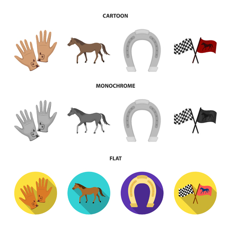 Race, track, horse, animal .Hippodrome and horse set collection icons in cartoon,flat,monochrome style vector symbol stock illustration web.