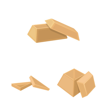 Different boxes cartoon icons in set collection for design.Packing box vector symbol stock web illustration.