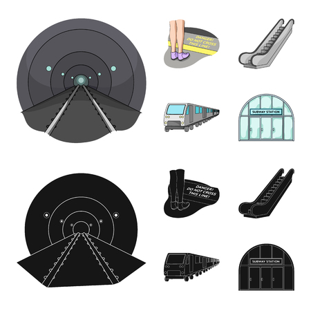 Electric, transport, equipment and other web icon in cartoon,black style.Public, transportation,machineryicons in set collection.
