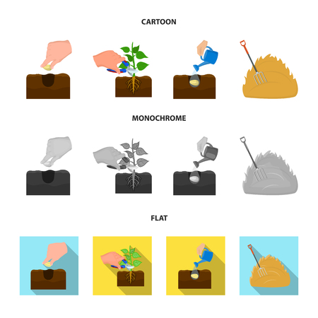 Garden, ecology, farmingand other web icon in cartoon,flat,monochrome style. Feed, plot, farm,icons in set collection.