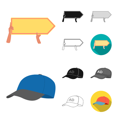 Production of advertising cartoon,black,flat,monochrome,outline icons in set collection for design. Advertising equipment vector symbol stock web illustration. 向量圖像